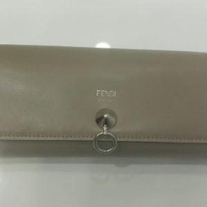 バイザウェイ 二つ折り長財布 ベージュ レザー 8M0251